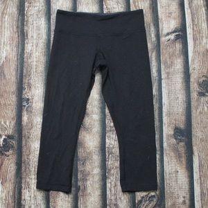 Lululemon Black Reversible Capri Leggings